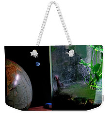 Godzilla Watches And The Moon Is Blue Weekender Tote Bag