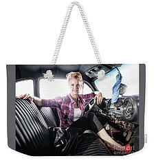 Weekender Tote Bag featuring the photograph Goin For A Ride by Brad Allen Fine Art