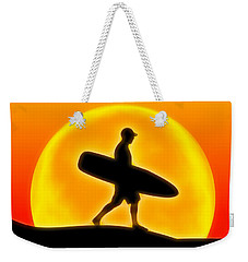 Weekender Tote Bag featuring the digital art Goin' For A Surf by Andreas Thust