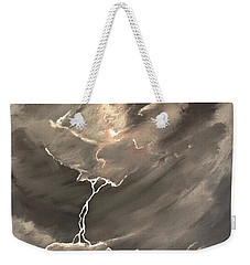 Going Down A Storm Weekender Tote Bag