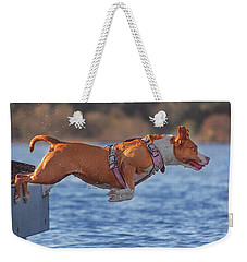 Going For A Swim  Weekender Tote Bag by Brian Cross