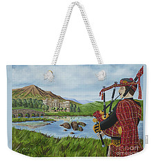 Weekender Tote Bag featuring the photograph Going Home by Val Miller