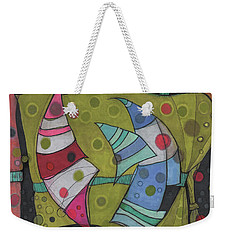 Going In Circles Weekender Tote Bag by Sandra Church