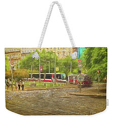 Going Slowly Round The Bend Weekender Tote Bag