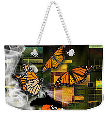 Weekender Tote Bag featuring the mixed media Going The Distance by Marvin Blaine