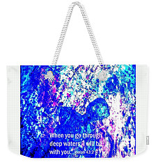 Weekender Tote Bag featuring the painting Going Through Deep Waters by Hazel Holland
