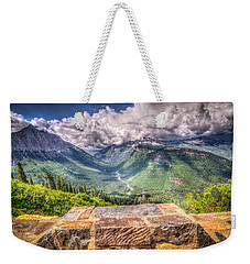 Going To The Sun Weekender Tote Bag by Spencer McDonald