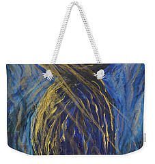 Gold And Blue Latte Stone Weekender Tote Bag