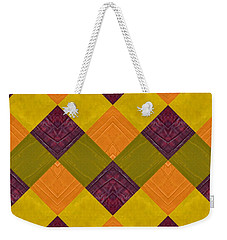 Gold And Green With Orange 2.0 Weekender Tote Bag by Michelle Calkins