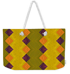 Gold And Green With Orange  Weekender Tote Bag by Michelle Calkins