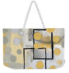 Gold And Grey Abstract Weekender Tote Bag