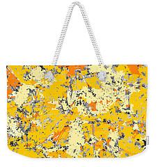 Gold And Orange Grunge Weekender Tote Bag