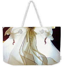 Gold And White Angel Weekender Tote Bag