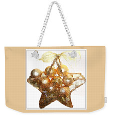 Gold Ball Star Weekender Tote Bag