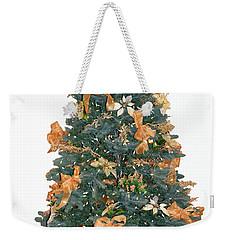 Gold Bow Xmas Card Weekender Tote Bag