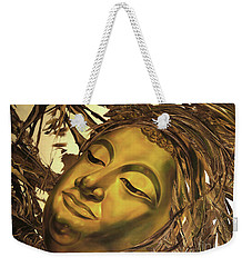 Gold Buddha Head Weekender Tote Bag by Chonkhet Phanwichien
