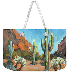 Weekender Tote Bag featuring the painting Gold Canyon by Diane McClary
