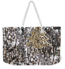 Weekender Tote Bag featuring the photograph Gold Christmas Tree by Ulrich Schade