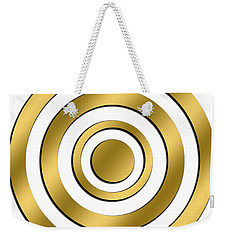 Gold Circles Weekender Tote Bag