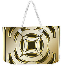 Gold Coffee 1 - Chuck Staley Weekender Tote Bag by Chuck Staley