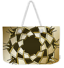 Weekender Tote Bag featuring the digital art Gold Coffee 10 by Chuck Staley