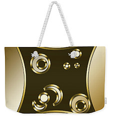 Gold Coffee 3 - Chuck Staley Weekender Tote Bag by Chuck Staley
