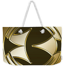 Gold Coffee 5 - Chuck Staley Weekender Tote Bag by Chuck Staley
