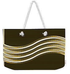 Weekender Tote Bag featuring the digital art Gold Coffee 8 by Chuck Staley