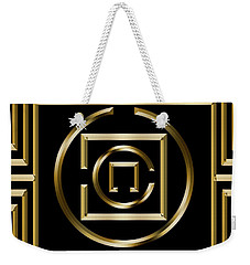 Gold Deco 1 - Chuck Staley Weekender Tote Bag by Chuck Staley