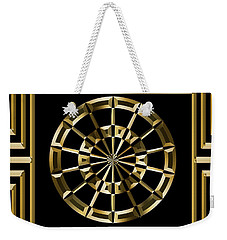 Gold Deco 8 - Chuck Staley Weekender Tote Bag by Chuck Staley