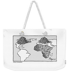 Weekender Tote Bag featuring the digital art Gold Diggers by ReInvintaged