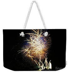 Gold Flecked 4th Of July Weekender Tote Bag by Craig Wood