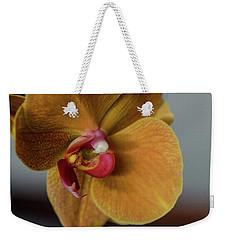 Gold Flower Blossom Weekender Tote Bag
