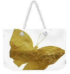 Gold Glam Butterfly Weekender Tote Bag by P S