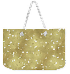 Gold Glam Confetti Dots Weekender Tote Bag by P S