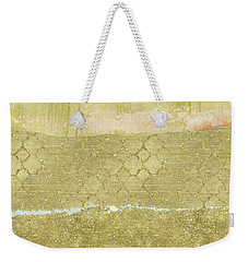 Gold Glam Pretty Abstract Weekender Tote Bag by P S