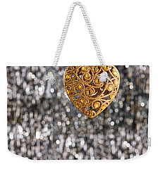 Weekender Tote Bag featuring the photograph Gold Heart  by Ulrich Schade