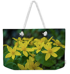 Weekender Tote Bag featuring the photograph Gold In The Marsh by Bill Pevlor