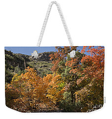 Weekender Tote Bag featuring the photograph Gold In The Mountains by Melany Sarafis