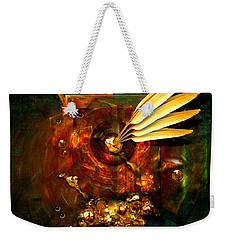 Weekender Tote Bag featuring the painting  Gold Inkpot by Alexa Szlavics