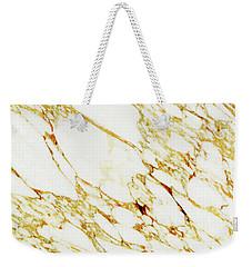 Gold Marble Weekender Tote Bag