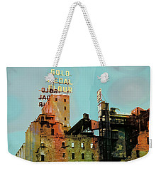 Weekender Tote Bag featuring the photograph Gold Medal Flour Pop Art by Susan Stone
