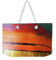 Gold Moon Reflection Weekender Tote Bag