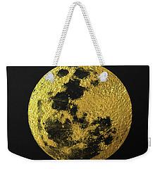 Gold Moon Weekender Tote Bag by Taylan Apukovska