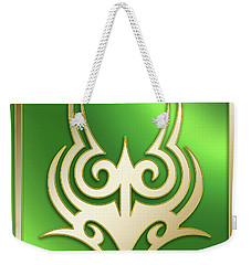 Gold On Green 2 - Chuck Staley Weekender Tote Bag by Chuck Staley