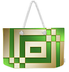 Gold On Green - Chuck Staley Weekender Tote Bag by Chuck Staley