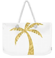 Gold Palm Tree- Art By Linda Woods Weekender Tote Bag