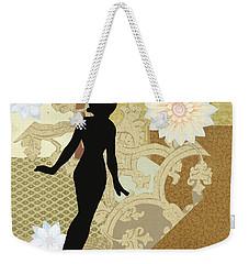 Gold Paper Doll Weekender Tote Bag