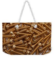 Gold Plated Screws Weekender Tote Bag