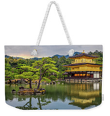Weekender Tote Bag featuring the photograph Gold Temple,  by Rikk Flohr